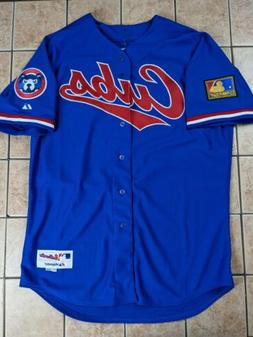 Chicago Cubs 2014 Throwback 1994 Blue Authentic Majestic Jer