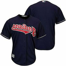 CLEVELAND INDIANS MLB MAJESTIC AUTHENTIC COOL BASE ADULT NAV