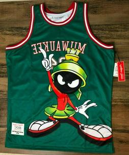 Milwaukee Marvin the Martian Authentic Basketball Jersey by